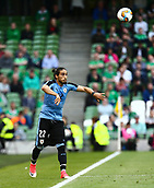 June 4th 2017, Aviva Stadium, Dublin, Ireland; International Friendly, Ireland versus Uruguay;  Martin Cáceres of Uruguay with the throw-in