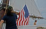 American flag, A J Meerwald, NJ Flagship