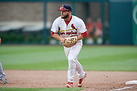Springfield Cardinals first baseman Casey Grayson (38) during a game against the San Antonio Missions on June 4, 2017 at Hammons Field in Springfield, Missouri.  San Antonio defeated Springfield 6-1.  (Mike Janes/Four Seam Images)