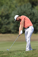 Lucas Bjeregaard (DEN) plays his 2nd shot on the 16th hole during Saturday's Round 3 of the Porsche European Open 2018 held at Green Eagle Golf Courses, Hamburg Germany. 28th July 2018.<br /> Picture: Eoin Clarke | Golffile<br /> <br /> <br /> All photos usage must carry mandatory copyright credit (&copy; Golffile | Eoin Clarke)