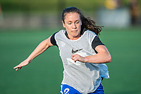 Boston, MA - Friday May 19, 2017: Allysha Chapman during a regular season National Women's Soccer League (NWSL) match between the Boston Breakers and the Portland Thorns FC at Jordan Field.