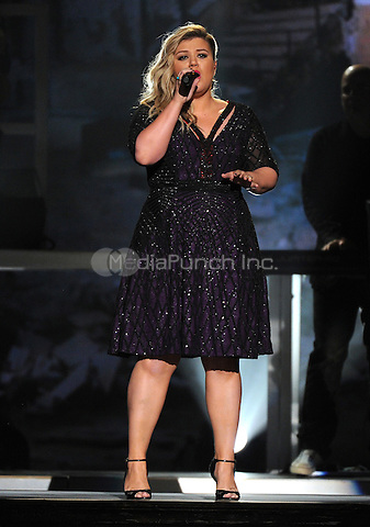 LAS VEGAS, NV - MAY 17: Kelly Clarkson performs on the 2015 Billboard Music Awards at the MGM Grand Garden Arena on May 17, 2015 in Las Vegas, Nevada. Credit: PGFM/MediaPunch