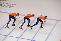 SPEEDSKATING: CALGARY: Olympic Oval, 02-12-2017, ISU World Cup, Team Pursuit NED, Lotte van Beek, Antoinette de Jong, Marrit Leenstra, ©photo Martin de Jong