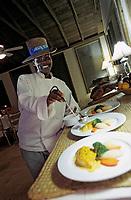 Iles Bahamas /Ile d'Andros/South Andros: Eco-Lodge-Tiamo-Resort la Chef Cuisinière Anna Salmon