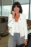 Davina McCall<br /> on the trading floor for the BGC Charity Day 2016, Canary Wharf, London.<br /> <br /> <br /> &copy;Ash Knotek  D3152  12/09/2016
