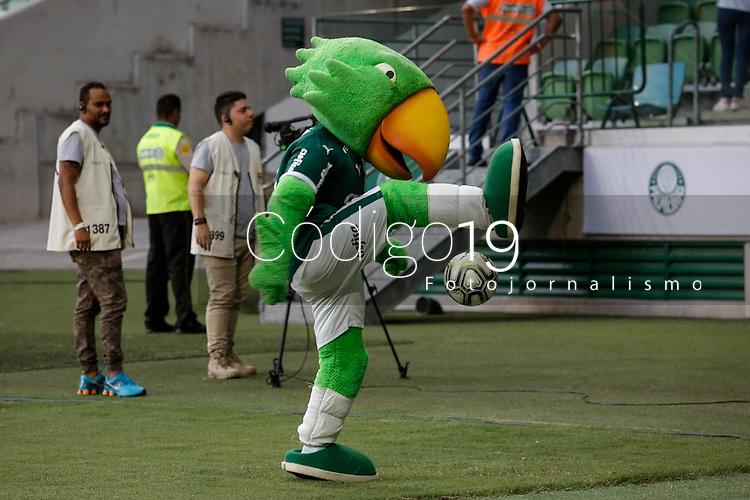 SÃO PAULO, SP 23.02.2019: PALMEIRAS-SANTOS - Mascote. Palmeiras e Santos em jogo válido pela oitava rodada do campeonato Paulista 2019, no Allianz Parque zona oeste da capital. (Foto: Ale Frata/Codigo19)