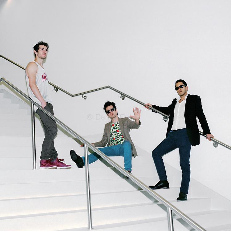 Rap Genius creators Ilan Zechory, 28, Tom Lehman, 28, and Mahbod Moghadam, 29, at their headquarters in Williamsburg. ..Danny Ghitis for The New York Times