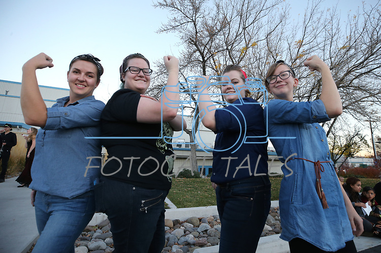Carson City Library staff members pose for photos during the Carson City Boo-nanza on Wednesday, Oct. 25, 2017. <br /> Photo by Cathleen Allison/Nevada Momentum