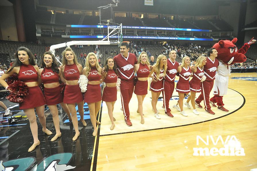 NWA Democrat-Gazette/Michael Woods --03/19/2015--w@NWAMICHAELW... The University of Arkansas Razorbacks vs the Wofford Terriers during Thursday nights 56-53 Arkansas win in the 2015 NCAA basketball tournament at Jacksonville Veterans Memorial Arena in Jacksonville, Florida.