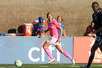Kelly Smith of the Boston Breakers runs downfield against Washington Freedom in 3-1 Breakers win on Project Pink night.  Smith scored her seventh goal of the season in the game.