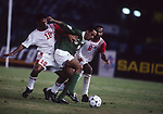 United Arab Emirates vs Saudi Arabia during their AFC Asian Cup 1996 Final match at Sheikh Zayed Stadium on 21 December 1996, in Abu Dhabi, United Arab Emirates. Photo by Stringer / World Sport Group