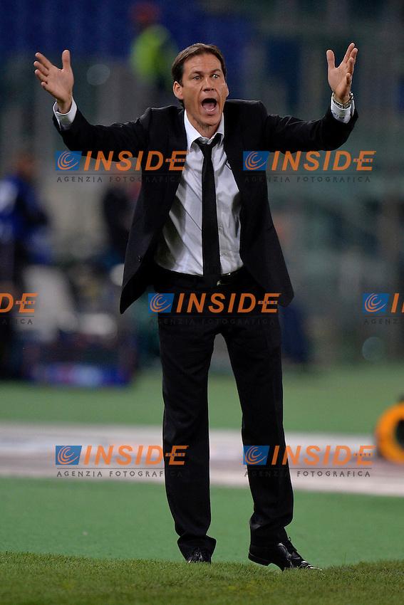 Rudi Garcia Roma <br /> Roma 25-04-2014 Stadio Olimpico - Football Calcio 2013/2014 Serie A, AS Roma - Milan, Foto Andrea Staccioli / Insidefoto