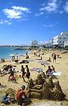 Sand sculpture,Corralejo,Fuerteventura, Canary Islands.