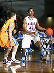 Texas-Arlington Mavericks guard Cameron Catlett (25) in action during the game between the McNeese State Cowboys and the UTA Mavericks held at the University of Texas at Arlington's, Texas Hall, in Arlington, Texas.  McNeese State defeats UTA 81 to 72.