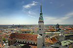 St Peters church and surrounding buildings, Munich, Bavaria, Germany.