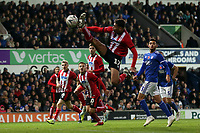 Tyler Walker of Lincoln City stretches for the ball during Ipswich Town vs Lincoln City, Emirates FA Cup Football at Portman Road on 9th November 2019