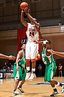 SAN ANTONIO, TX - MARCH 1, 2008: The Texas A&M University Corpus Christi Islanders vs. The University of Texas at San Antonio Roadrunners Men's Basketball at the UTSA Convocation Center. (Photo by Jeff Huehn)