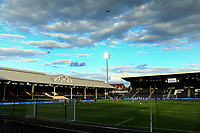 10th July 2020; Craven Cottage, London, England; English Championship Football, Fulham versus Cardiff City; A commercial air craft fies over Craven Cottage