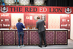 "© Joel Goodman - 07973 332324 . No syndication permitted . 30/09/2013 . Manchester , UK . "" The Red Ed Lion "" mock pub . Products for sale in the exhibition this morning (Monday 30th September 2013) . Day 2 of the Conservative Party Conference 2013 at Manchester Central . Photo credit : Joel Goodman"