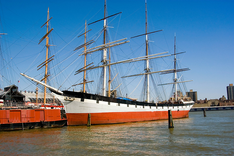 New York City, New York: South Street Seaport, Wavertree, historic ship from 1885, carried jute from India to Scotland.  .Photo #: ny246-14676  .Photo copyright Lee Foster, www.fostertravel.com, lee@fostertravel.com, 510-549-2202.