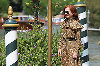 VENICE, ITALY - September 01:  Isabelle Huppert arrives in Darsena Excelsior during the 76th Venice Film Festival  on September 01, 2019 in Venice, Italy. (Photo by Mark Cape/Insidefoto)<br /> Venezia 01/09/2019
