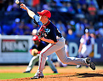 7 March 2010: Washington Nationals' pitcher Drew Storen on the mound during a Spring Training game against the New York Mets at Tradition Field in Port St. Lucie, Florida. The Mets edged out the Nationals 6-5 in Grapefruit League pre-season play. Mandatory Credit: Ed Wolfstein Photo