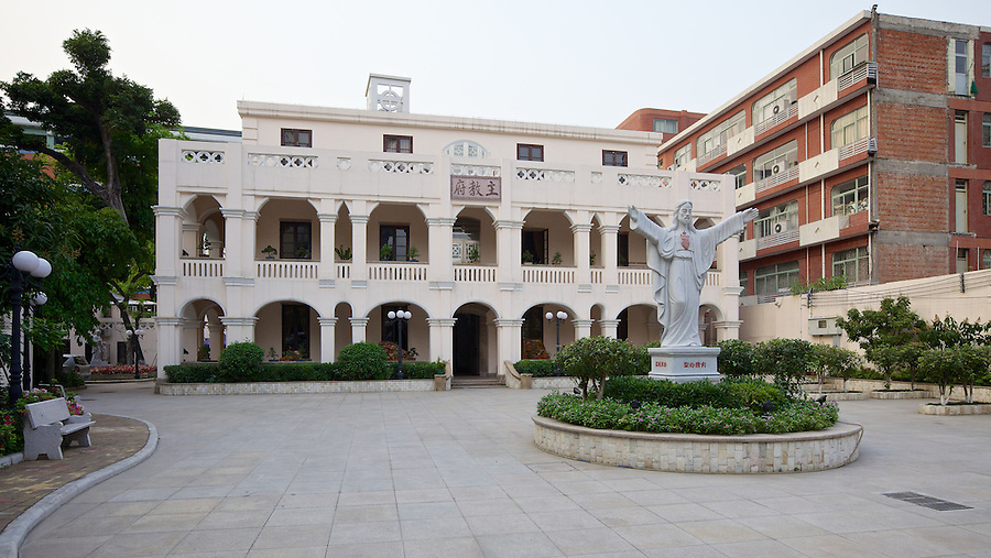 Restored In 2010, The Bishop's House At The Sacred Heart Roman Catholic Cathedral In Guangzhou (Canton) Is Hardly Recognisable From When Visited In 2009.