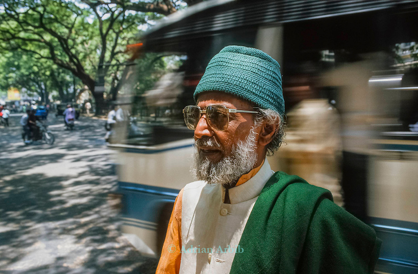 Professor Nanjundaswarmy - representative of the  Karnataka State farmers, who led the smashing up of  Kentucky Fried chicken premises in the state of Karnataka.  Banglore, India. He is now taking Monsanto  (Cargill seeds to court for malpractice).