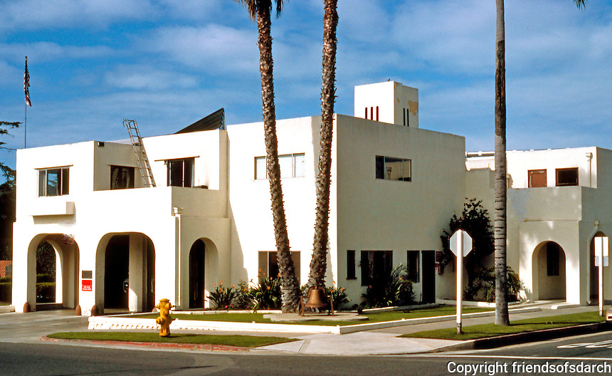 Irving Gill: Fire Station, Oceanside, CA. (Photo '86)