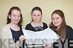 Aine Barry, Farrranfore, Caoimhe Doyle Muckross and Catriona Fitzmaurice Tarbert who sang at the Kerry Young Musician of the Year competition in the Killarney, KDYS on Saturday..