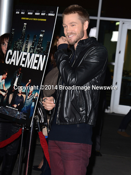 Pictured: Chad Michael Murray<br /> Mandatory Credit: Luiz Martinez / Broadimage<br /> CAVEMAN Los Angeles Premiere<br /> <br /> 2/5/14, Hollywood, California, United States of America<br /> Reference: 020514_LMLA_BDG_070<br /> <br /> sales@broadimage.com<br /> Bus: (310) 301-1027<br /> Fax: (646) 827-9134<br /> http://www.broadimage.com