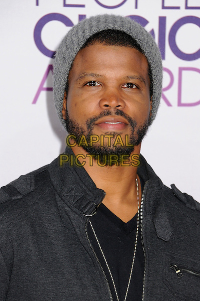 Sharif Atkins.People's Choice Awards 2013 - Arrivals held at Nokia Theatre L.A. Live, Los Angeles, California, USA..January 9th, 2013.headshot portrait black grey gray beanie hat beard facial hair.CAP/ADM/BP.©Byron Purvis/AdMedia/Capital Pictures.