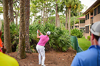 Martin Kaymer (DEU) hits a blind second shot from the pine needles on number 2 during round 3 of the Honda Classic, PGA National, Palm Beach Gardens, West Palm Beach, Florida, USA. 2/25/2017.<br /> Picture: Golffile | Ken Murray<br /> <br /> <br /> All photo usage must carry mandatory copyright credit (&copy; Golffile | Ken Murray)
