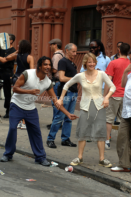 WWW.ACEPIXS.COM . . .  ....***EXCLUSIVE - FEE MUST BE AGREED BEFORE USE***....June 14, 2006, New York City....Jodie Foster and Naveen Andrews flirting between scenes on the set of 'The Brave One'. ....Please byline: PHILIP VAUGHAN - ACEPIXS.COM.. *** ***  ..Ace Pictures, Inc:  ..(212) 243-8787..e-mail: info@acepixs.com..web: http://www.acepixs.com
