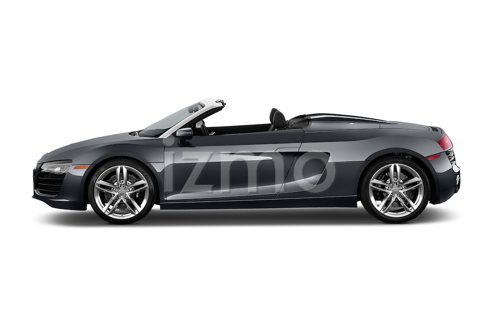 Side View of a 2014 Audi R8 Spyder V10 Quattro Stock Photo