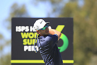 James Heath (ENG) in action on the 9th during Round 2 of the ISPS Handa World Super 6 Perth at Lake Karrinyup Country Club on the Friday 9th February 2018.<br /> Picture:  Thos Caffrey / www.golffile.ie<br /> <br /> All photo usage must carry mandatory copyright credit (&copy; Golffile | Thos Caffrey)