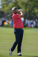 Marc Leishman (AUS) watches his approach shot on 1 during round 3 of the Arnold Palmer Invitational at Bay Hill Golf Club, Bay Hill, Florida. 3/9/2019.<br /> Picture: Golffile | Ken Murray<br /> <br /> <br /> All photo usage must carry mandatory copyright credit (&copy; Golffile | Ken Murray)