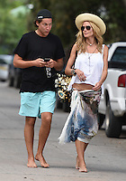 Heidi Klum and boyfriend Vito Schnabel strolling in Saint Barths
