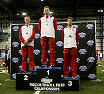 BROOKINGS, SD - FEBRUARY 24:  Chris Nilsen from the University of South Dakota poses after winning the men's pole vault Friday afternoon at the Summit League Indoor Championships in Brookings, SD. (Photo by Dave Eggen/Inertia)