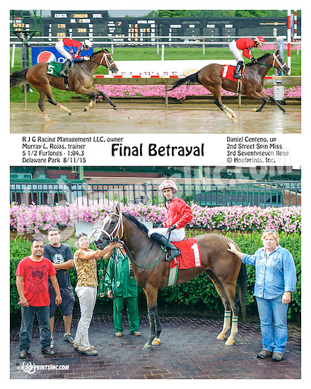 Final Betrayal winning at Delaware Park on 8/11/15