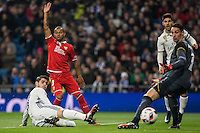 Real Madrid´s Spanish forward Alvaro Morata during the Copa del Rey soccer match between Real Madrid and Sevilla played at the Santiago Bernabéu stadium in Madrid, on January 4th 2017.