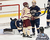 Mike Booth (BC - 12), Jordan Gross (Notre Dame - 3) - The Boston College Eagles defeated the University of Notre Dame Fighting Irish 6-4 (EN) on Saturday, January 28, 2017, at Kelley Rink in Conte Forum in Chestnut Hill, Massachusetts.The Boston College Eagles defeated the University of Notre Dame Fighting Irish 6-4 (EN) on Saturday, January 28, 2017, at Kelley Rink in Conte Forum in Chestnut Hill, Massachusetts.