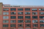The American Apparel headquarters, which houses the factory in which the apparel is made, as well as offices, and a store, seen in Los Angeles, California February 6, 2015.