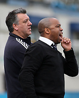 Leyton manager Troy Townsend and assistant Tony Levoni during Redbridge vs Leyton, Ryman League Division One North Football at Oakside Stadium on 28th February 2009