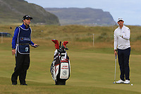 Jacques Kruyswijk (RSA) on the 2nd fairway during Round 1 of the Dubai Duty Free Irish Open at Ballyliffin Golf Club, Donegal on Thursday 5th July 2018.<br /> Picture:  Thos Caffrey / Golffile