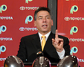 Landover, MD - September 9, 2007 -- Jim Zorn makes remarks after being introduced as head coach of the Washington Redskins during a press conference at Redskins Park in Ashburn, Virginia on Sunday, February 10, 2008.  Zorn was named after an extensive search that lasted over a month..Credit: Ron Sachs / CNP.(RESTRICTION: NO New York or New Jersey Newspapers or newspapers within a 75 mile radius of New York City)