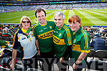 Attending the Kerry v Mayo all Ireland semi-final re-play in Croke Park, on Saturday last, were l-r: Marilyn Kelly, Gerard Kelly and Maurice Kelly (Listowel) and Amanda McCarthy (Kenmare).
