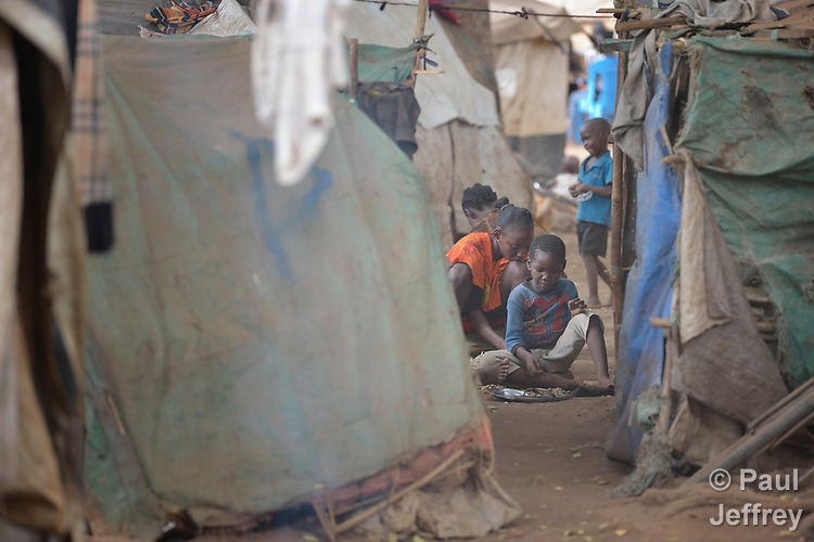 Children in a camp for more than 12,000 internally displaced persons located on the grounds of the Roman Catholic Cathedral of St. Mary in Wau, South Sudan. Most of the families here were displaced in June, 2016, when armed conflict engulfed Wau.<br /> <br /> Norwegian Church Aid, a member of the ACT Alliance, has provided relief supplies to the displaced in Wau, and has supported the South Sudan Council of Churches as it has struggled to mediate the conflict in Wau.