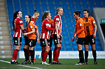 A corner set piece from Sheffield Utd during the The FA Women's Championship match at the Proact Stadium, Chesterfield. Picture date: 8th December 2019. Picture credit should read: Simon Bellis/Sportimage