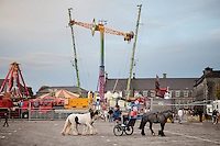 2/10/2010.  Taveler boys ride their trotter at the Ballinasloe Horse Fair, Ballinasloe, County Galway, Ireland. Picture James Horan